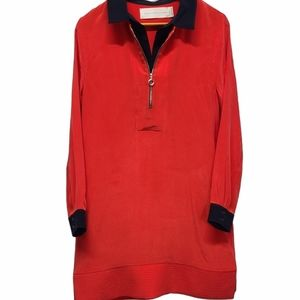 Victoria Beckham Silk Red Dress Size 8